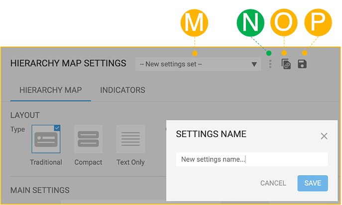 Hierarchy Map Settings 53 Top